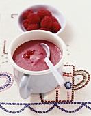 Raspberry and lychee puree