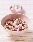 Muesli with berries and apple pearls