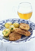 Wiener Schnitzel with caraway potatoes