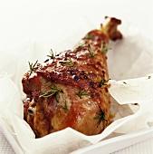 Turkey leg with rosemary