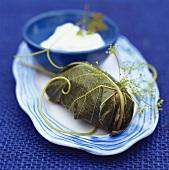 Dolmades (stuffed vine leaves, Greek)
