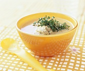 Carrot soup with oat dumplings