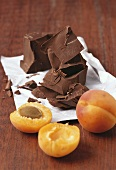 Fresh apricots and dark chocolate
