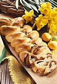 Bread plait with almond filling