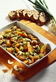 Marinated carrots with herbs and cashew nuts