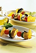 Spiedini di verdure (vegetable kebabs), Latium, Italy