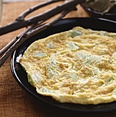 Omelette with bitter gourd