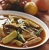 Fish head stew with aubergine