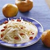 Bean sprouts with yam root and wolfberries