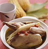 Chicken with ginseng