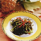 Bitter gourd with seaweed