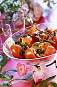 Baked tomatoes with marjoram and cheese topping
