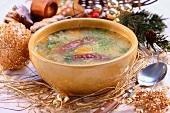 Zurek z kielbasa (Christmas soup, Poland)