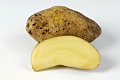One whole and one half Almond potato
