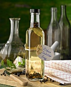 Bay and juniper vinegar