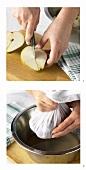 Making pear juice