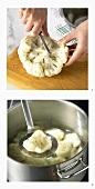 Boiling cauliflower