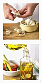 Making garlic oil
