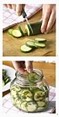 Zucchini einlegen