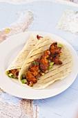Fajita (gegrilltes Fleisch mit Gemüse & Tortilla, Mexiko)