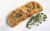 Focaccia alle erbe aromatiche (flatbread with herbs)