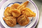Dried pears on a plate