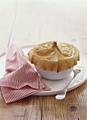 Fish pie with filo pastry crust