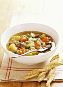 Scotch broth (Barley soup, Scotland)