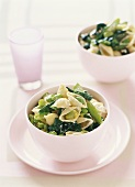 Pasta shells with beans and spinach