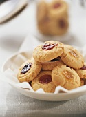 Biscuits with jam centres