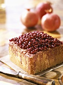 Ginger cake with pomegranate seeds