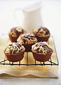 Chocolate apple muffins