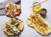 Different types of flatbread