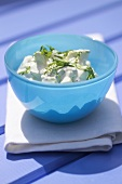 Tzatziki in a small bowl