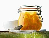 Pickled pumpkin in preserving jar