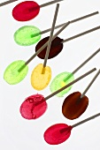 Coloured lollipops with white background