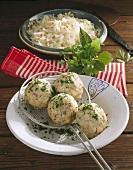 Bacon dumplings and cabbage salad (Tyrol)