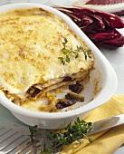 Lasagne with radicchio and Taleggio