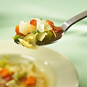 Cabbage soup in a spoon
