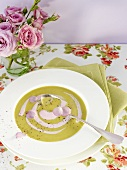 Pea soup with rose whip