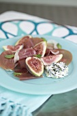 Figs with Parma ham and mint yoghurt