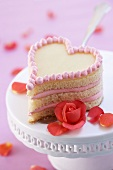 Strawberry heart with roses
