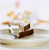 Coffee and chocolate tart