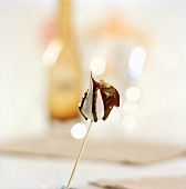 Marshmallow with chocolate sauce