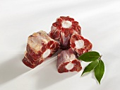 Pieces of oxtail
