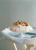 Pavlova (Meringue dessert with fruit, Australia)