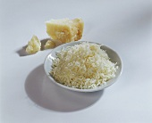 Parmesan, a piece and grated