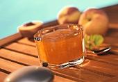 Peach jam with amaretto