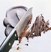 Making chocolate shavings