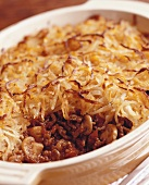 Shepherds pie (minced lamb with potato topping, England)